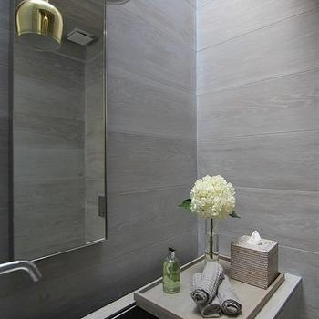 Powder Room Trough Sink, Modern, bathroom, Rajiv Saini and Associates