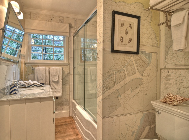 World Map Wallpaper Vintage Bathroom Kathleen