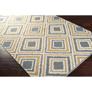 Hand Woven Tioga Gold Wool Rug 5 X 8 Overstock Com