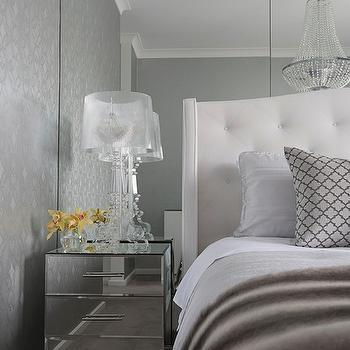 Floor to Ceiling Mirrors. Silver Bedroom Wallpaper Design Ideas