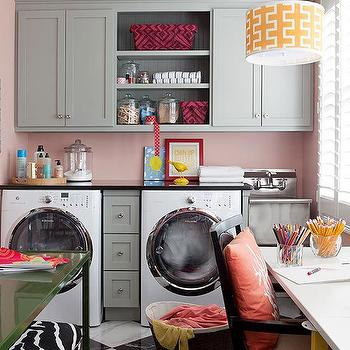 Contemporary, Laundry Room, Benjamin Moore Conch Shell
