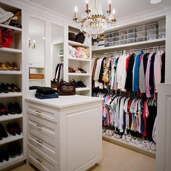 Closet Island Shoe Storage Design Ideas