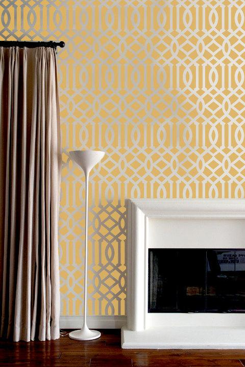 Stencil Lattice Trellis Wall Paper