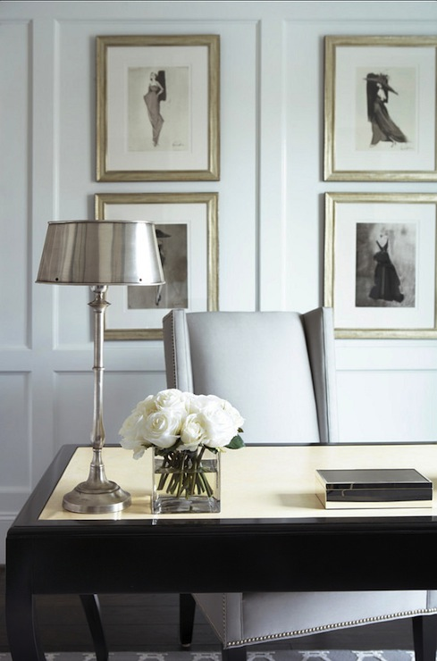 Gold Table Lamp Black Shade