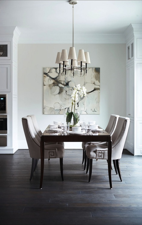 Greek Key Chairs Transitional Dining Room Benjamin