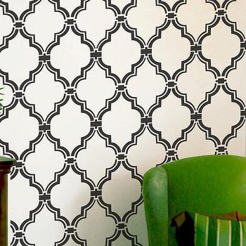 Wall Stencil Moroccan Allower Pattern Wall Room by OMGstencils I Etsy