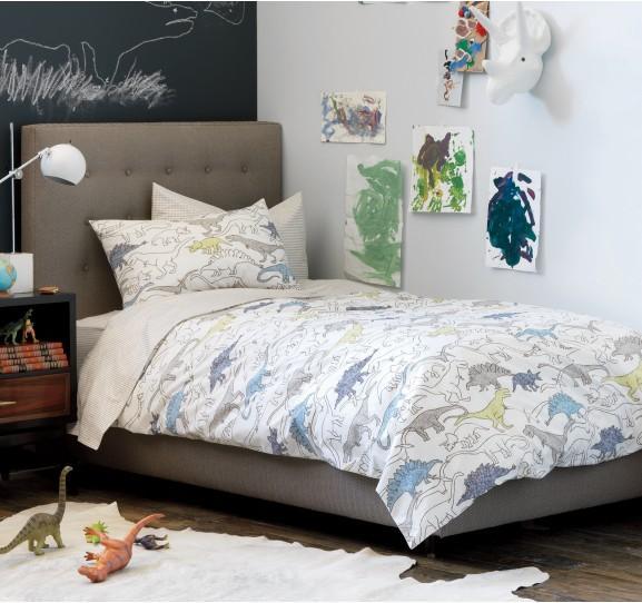dinosaurs multi duvet set dwellstudio. Black Bedroom Furniture Sets. Home Design Ideas