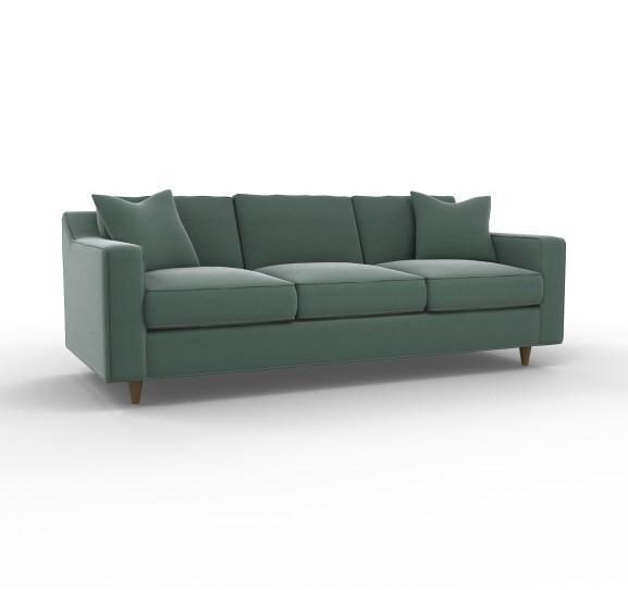 Green Avec Sofa With Brass Legs