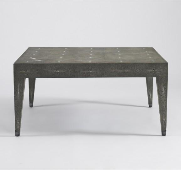 Klein Coffee Table Grey Shagreen Dwellstudio