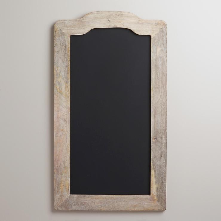 Industrial Zinc Finish Framed Chalkboard