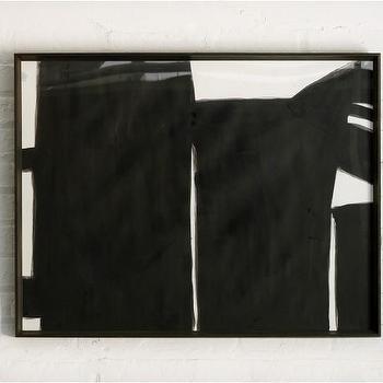 Black Road 1 Wood Framed Print, DwellStudio