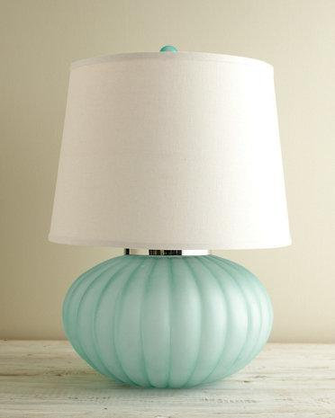 Sea Glass Ball Table Lamp I Garnet Hill