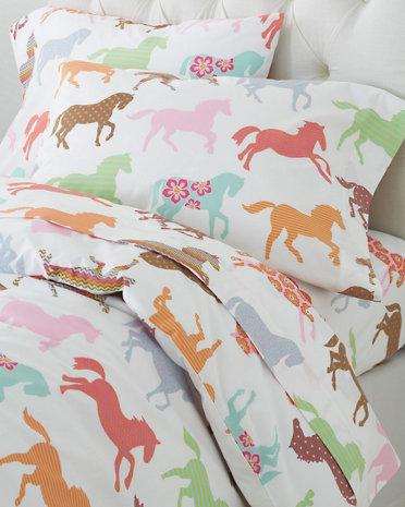 Pony Up Percale Bedding I Garnet Hill