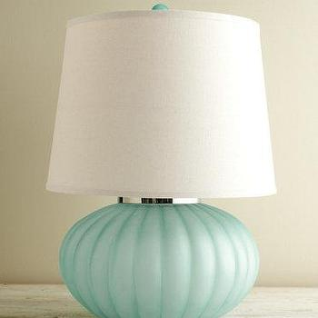 Clift glass table lamp base light blue pottery barn sea glass ball table lamp i garnet hill mozeypictures Images