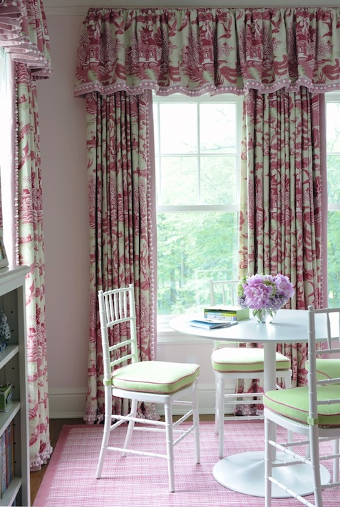 Toile Curtains Transitional Girl S Room Kerry Hanson