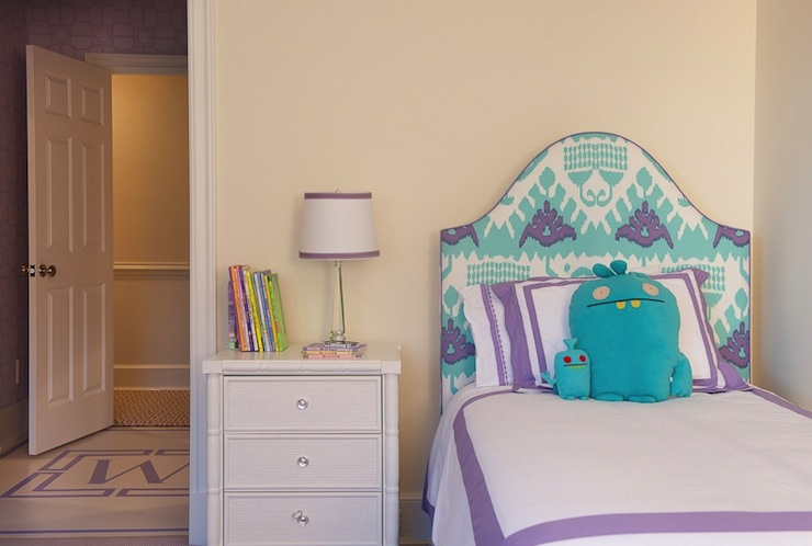Turquoise Headboard view full size. Turquoise Girls Room Design Ideas