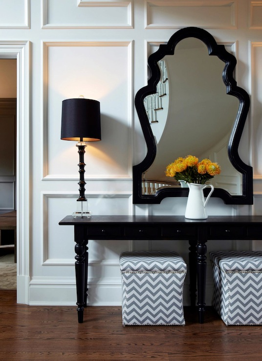 Pottery Barn Console Table Transitional Entrancefoyer Chango - Pottery barn black console table