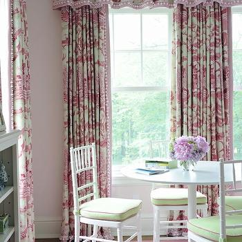 backs red victorian with toile stylish curtains tie and