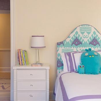 Turquoise Headboard, Contemporary, girl's room, Kerry Hanson Design