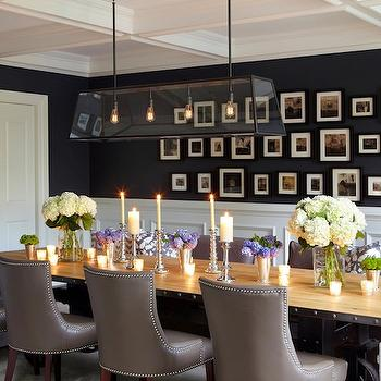 Navy Blue Paint Colors, Transitional, dining room, Benjamin Moore French Beret, Chango & Co.