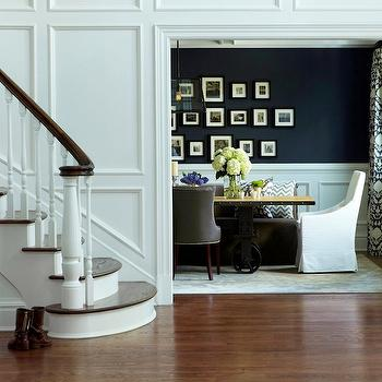 Dining Room Wainscoting, Transitional, dining room, Benjamin Moore French Beret, Chango & Co.