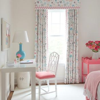 Pink Console Table, Transitional, girl's room, Kerry Hanson Design