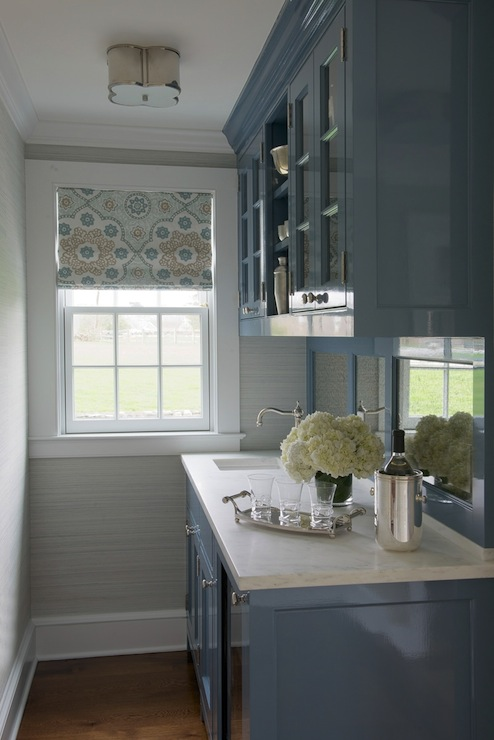 galbraith and paul lighting. Amazing Blue Butleru0027s Pantry Design With Visual Comfort Lighting Basil Flushmount Light As Well High Gloss Cabinets Paired White Marble Galbraith And Paul