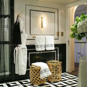 Black and White Bathroom, Contemporary, bathroom, Jamie Herzlinger