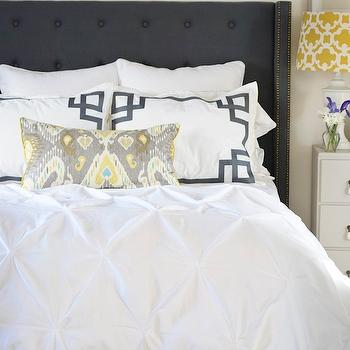 Yellow and Gray Bedroom, Contemporary, bedroom, Sarah Richardson Design