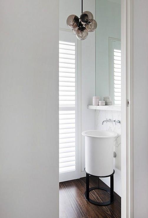 Wood Veneer Vanity - Contemporary - bathroom - Tracy