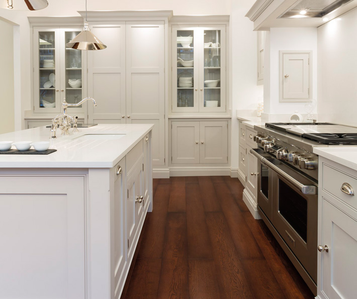 White Kitchen Cabinets With Gray Countertops: Light Gray Cabinets
