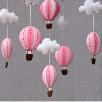 Soft Pink Hot Air Balloon Mobile I Habitat And Beyond Kids