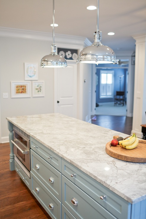 Vermont White Granite Countertops  Transitional  kitchen  Benjamin