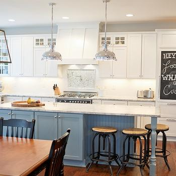 Vermont White Granite Transitional Kitchen Britt