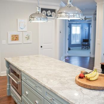 Vermont White Granite Countertops, Transitional, kitchen, Benjamin Moore Wickham Gray, Britt Lakin Photography