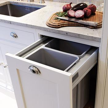 Custom Kitchen Waste Drawer With Dual Garbage Cans Design Ideas