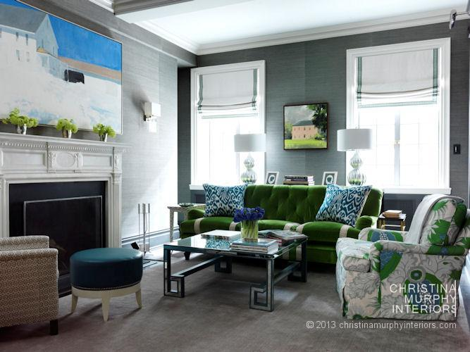 living room teal grasscloth wallpaper - photo #42