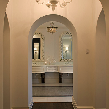 Arched Doorways, Transitional, bathroom, John Kraemer and Sons