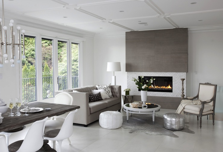 Gray Living Room Contemporary Living Room The Cross
