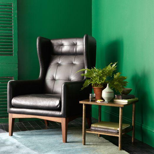 James Harrison Wing Chair Leather West Elm