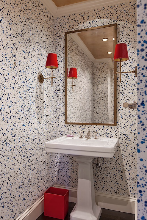 Paint Splatter Wallpaper Contemporary Bathroom Lilly