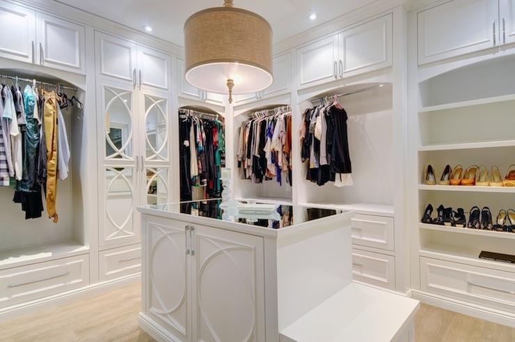 The Best Modern Walk In Closets Walk In Closet With Turquoise Blue Accents Contemporary Closet