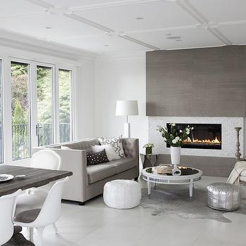 Gray Living Room, Contemporary, living room, The Cross Decor & Design