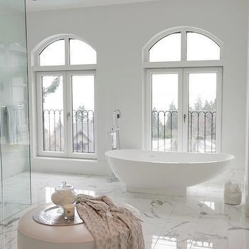Bathroom french doors design ideas for Master bathroom ottoman