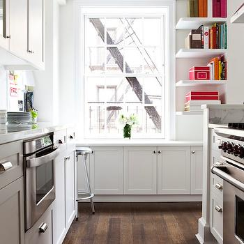 Cookbook Shelves, Transitional, kitchen, Lilly Bunn Interior