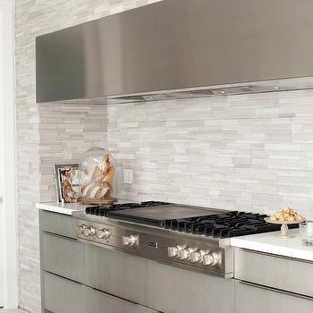 Linear Tile Backsplash, Modern, kitchen, The Cross Decor & Design