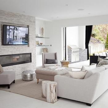 Floor to Ceiling Fireplace, Contemporary, living room, The Cross Decor & Design