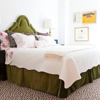 Leopard Rug, Eclectic, bedroom, Lilly Bunn Interior