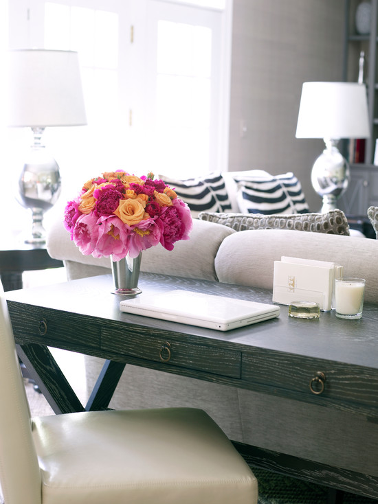 Desk Behind Sofa Design Ideas, Sofa Table Desk Combo