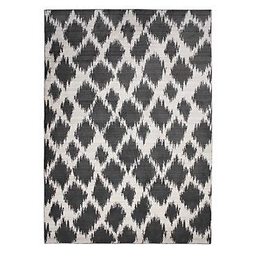 tangier gray white ikat rug view full size